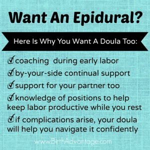 doula with a epidural